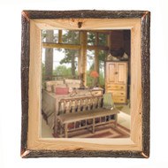 FL82930 Hickory Log Mirror