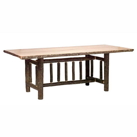 FL85110 Hickory Log Dining Table