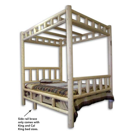 GT1106C Ranch Valley Log Canopy Bed