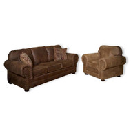 IF1089 Wind River Brown Leather Sofa