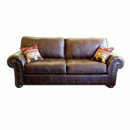 MF2213 Rustic Faux Leather Couch