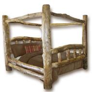 1202C Classic Rustic Aspen Log Canopy Bed
