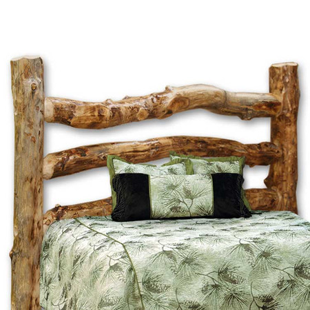 1203HB Corral Rustic Aspen Log Headboard