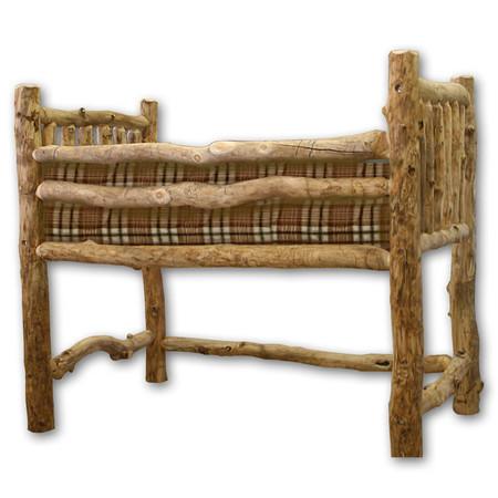 1214 Rustic Log Loft Bed