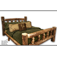 1216 Rustic Aspen Log Cabin Bed with Mattress  Supports