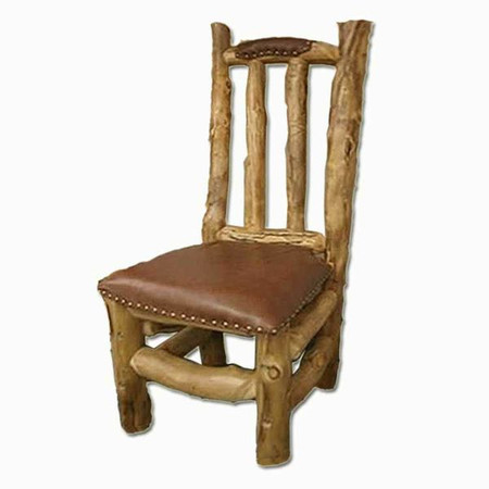 2209 Rustic Log Leather Chair