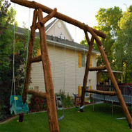 2220 Rustic Log Swing Set