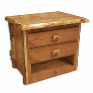 3207 Double Drawer Lumber End Table/ Nightstand