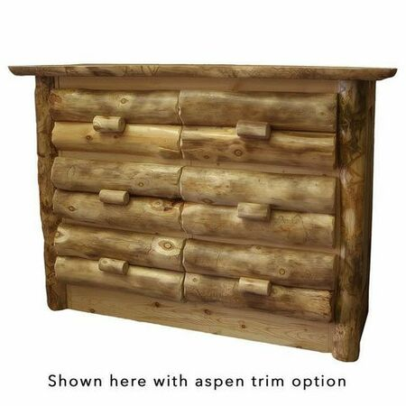 4106 Rustic 6 Drawer Dresser
