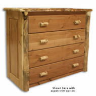 4201 Rustic 4 Drawer Chest of Drawers with 2 Handles