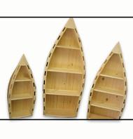 4208 Rustic Canoe Bookshelf