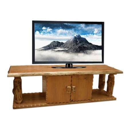 4222 Flat Screen Log TV Stand