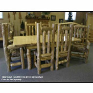 5101 Large Rustic Log Dining Table