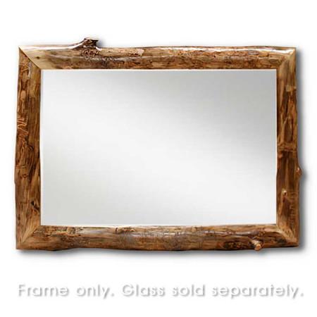 6209 Rustic Aspen Log Mirror Frame  w/o Mirror