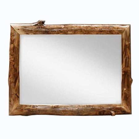 6210 Rustic Aspen Log Mirror Frame with Mirror