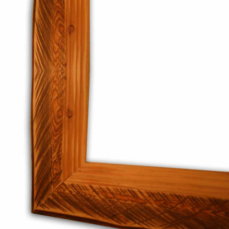 6217 Stepped & Stained Barn Wood Picture Frame