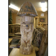 6219 Log Bear Lamp