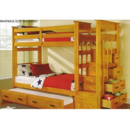 A10270 Natural Twin Over Twin Bunk Bed