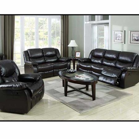 A50560 Fullerton Espresso Bonded Leather Match Motion Sofa Set