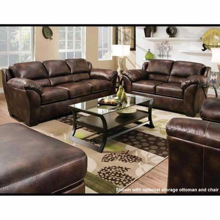 A50605 Dax Harvest Bonded Leather Sofa Set