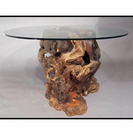 CDT0101 Rustic Redwood Burl Grand Coffee Table