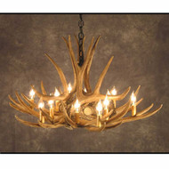 CHD9 Mule Deer Nine Antler Chandelier