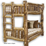 FL10120 Traditional Log Bunk Bed