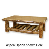 FL14080 Open Log Coffee Table - Rectangle