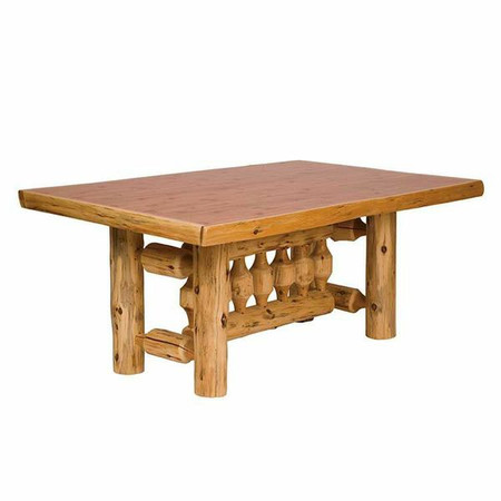 FL15120 Rectangle Log Dining Table