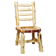 FL16140 Ladder-back Log Side Chair