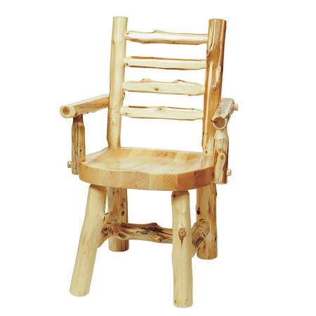 FL16150 Ladder-Back Log Arm Chair