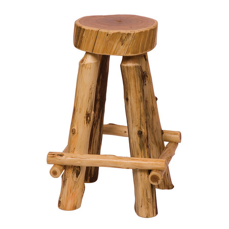 FL16214 Traditional Slab Barstool with Outside Footrest