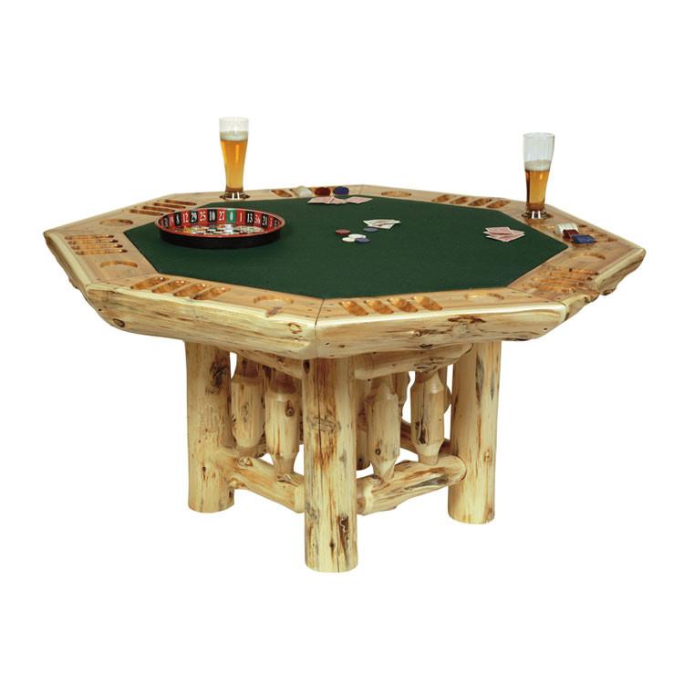 Genial FL16700 Rustic Log Poker Table
