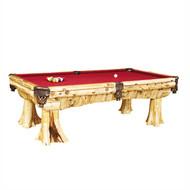 FL16750 Rustic Log Pool Table