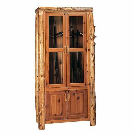 FL16801 Rustic Gun Cabinet