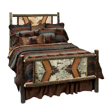 FL80102 Hickory Adirondack Traditional Bed