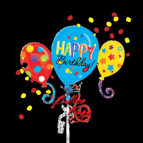 Happy Birthday Balloons Cluster