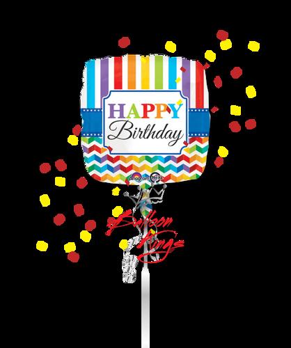 Happy Birthday Stripe And Chevron
