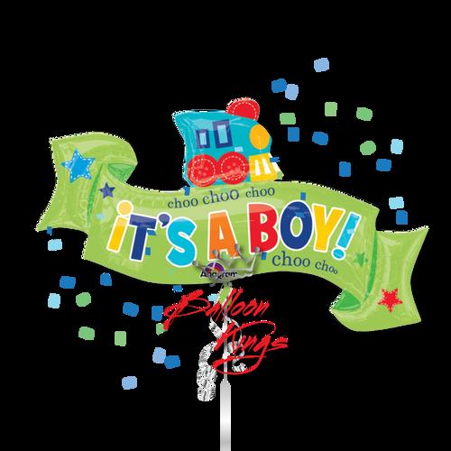 Its A Boy Train Ribbon