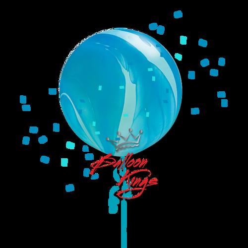 30in Superagate Blue