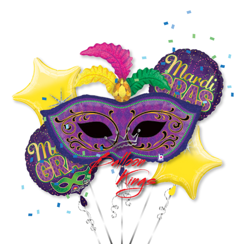 Mardi Gras Mask Bouquet