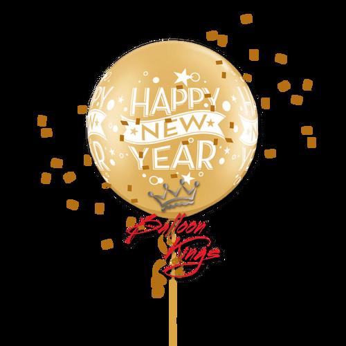 30in Latex Gold New Year Confetti