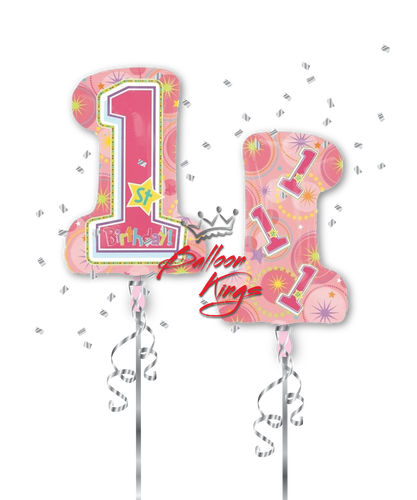 1st Birthday Number Shape (D)