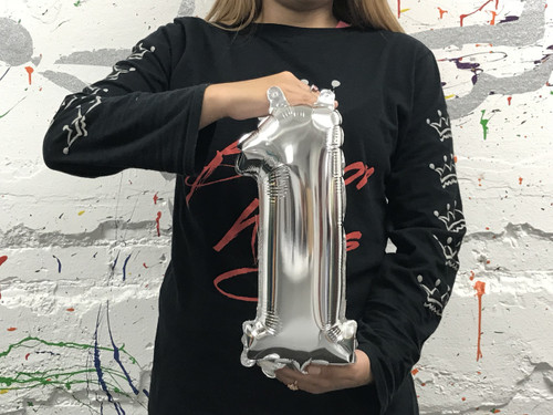 14in Silver Number 1