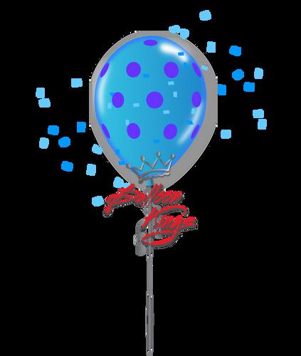 11in Colorful Polka Dots - Dark Blue