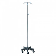 "IV Stand Short 5-Leg Steel Base, Height: 54""-90.5"" (2 Hooks)"