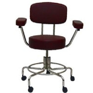Non-Magnetic Adjustable Stool (with back & arms)