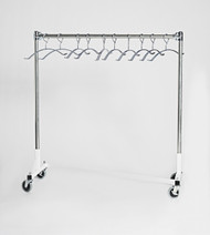 Short Z Base Mobile Valet Apron Rack with 7 Hangers