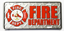Fire Department License Plate
