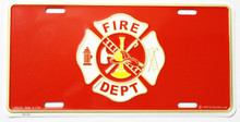 Fire Dept License Plate